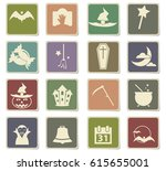 halloween vector icons for user ... | Shutterstock .eps vector #615655001