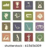golf vector icons for user... | Shutterstock .eps vector #615656309