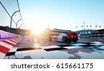 racer of formula 1 in a racing... | Shutterstock . vector #615661175