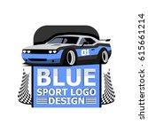 sport car illustration blue...   Shutterstock .eps vector #615661214