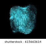 Fingerprint On Black Backgroun...