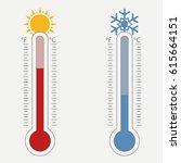 meteorological thermometer.... | Shutterstock .eps vector #615664151