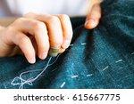 tailor man working in his... | Shutterstock . vector #615667775