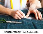 tailor man working in his...   Shutterstock . vector #615668381