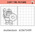 viking. copy the picture.... | Shutterstock .eps vector #615671459