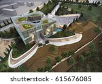 3d rendering and design ... | Shutterstock . vector #615676085