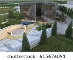 3d rendering and design ... | Shutterstock . vector #615676091