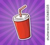 vector illustration. disposable ... | Shutterstock .eps vector #615680105