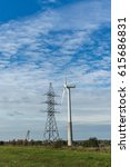 Small photo of Windmill on the countryside, alternative energy