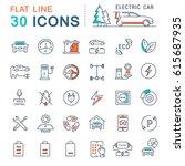 set line icons in flat design... | Shutterstock . vector #615687935