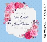 wedding floral template... | Shutterstock .eps vector #615688307