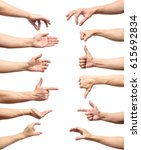multiple male caucasian hand... | Shutterstock . vector #615692834