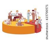 businesspeople working hard ... | Shutterstock .eps vector #615700571