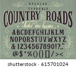 country roads  take me home.... | Shutterstock .eps vector #615701024