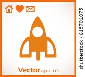 rocket icon | Shutterstock .eps vector #615701075