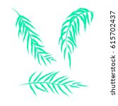 templates of tropical leaves...   Shutterstock .eps vector #615702437