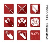icon set of armor in vector....