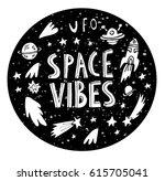 Space Night Sky Texture Circle...
