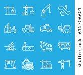lift icons set. set of 16 lift... | Shutterstock .eps vector #615706601