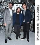 Small photo of LOS ANGELES - MAR 27: Jon Hamm, Edgar Wright and Ansel Elgort arrives for the CinemaCon 2017-Sony Pictures on March 27, 2017 in Las Vegas, NV