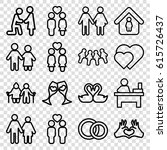 couple icons set. set of 16... | Shutterstock .eps vector #615726437