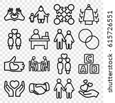 together icons set. set of 16... | Shutterstock .eps vector #615726551