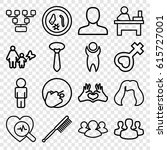 human icons set. set of 16... | Shutterstock .eps vector #615727001