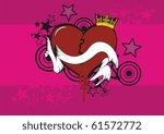 heart cartoon | Shutterstock .eps vector #61572772