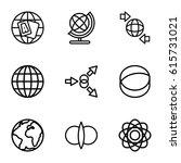 orbit icons set. set of 9 orbit ... | Shutterstock .eps vector #615731021