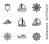 yacht icons set. set of 9 yacht ... | Shutterstock .eps vector #615731615