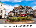 half timbered house in...