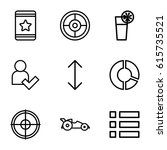 ui icons set. set of 9 ui...