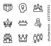 leader icons set. set of 9... | Shutterstock .eps vector #615735551
