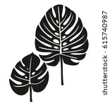 palm leaves. | Shutterstock .eps vector #615740987