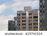 socialist apartment housing | Shutterstock . vector #615741314