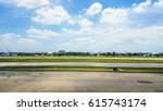 runway on a beautiful sky and... | Shutterstock . vector #615743174