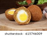 Small photo of Scotch egg . fried egges with curium stew , eeg balls in deep fried , dutsh kitchen