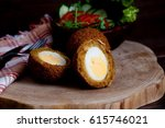 Small photo of Scotch egg, fried egges with curium stew , eeg balls in deep fried , dutsh kitchen
