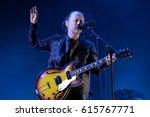 barcelona   jun 3  thom york ...   Shutterstock . vector #615767771