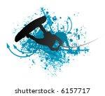 wakeboarder in action | Shutterstock .eps vector #6157717