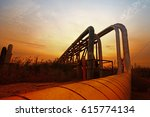 oil pipeline  the oil industry... | Shutterstock . vector #615774134