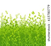 spring background with grass... | Shutterstock .eps vector #615780779