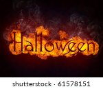 halloween in fire isolated on... | Shutterstock . vector #61578151