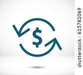 money arrow icon stock vector...   Shutterstock .eps vector #615782069
