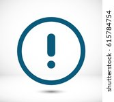 alert vector icon | Shutterstock .eps vector #615784754