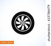 wheel vector icon  flat design... | Shutterstock .eps vector #615786479
