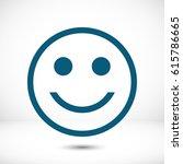 smile icon stock vector... | Shutterstock .eps vector #615786665