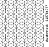 monochrome hexagon background.... | Shutterstock .eps vector #615786797