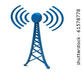 tower with radio waves | Shutterstock . vector #61578778