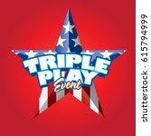 triple play event vector...   Shutterstock .eps vector #615794999
